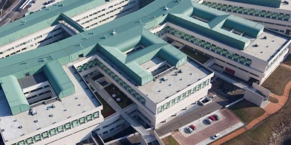 Veduta aerea del Nuovo Ospedale Sant'Anna, San Fermo della Battaglia (CO)