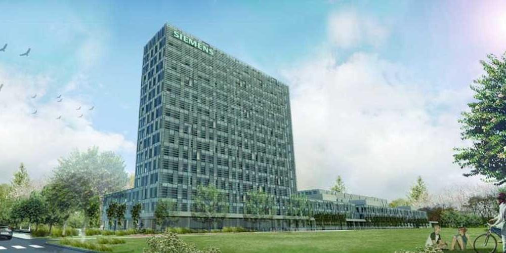 Il palazzo principale del Headquarter Siemes Spa